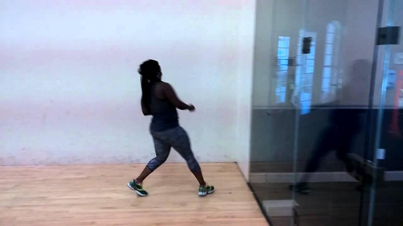 Yvette running the lines